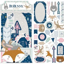 Bo Bunny Little Wonders Noteworthy Die-Cut Journaling & Accents Cardstock 7310207