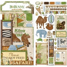 Bo Bunny Jungle Life Noteworthy Die-Cut Journaling & Accents Cardstock 7310230