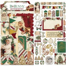 Bo Bunny Yuletide Noteworthy Die-Cut Journaling & Accents Cardstock 7310293
