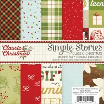 "Simple Stories Classic Christmas 6""x6"" Double-Sided Paper Pad 7322"