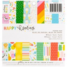 "Pebbles Happy Hooray Birthday 6""x6"" Paper Pad 732622"