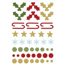 Simple Stories Classic Christmas Enamel Dots & Shapes 7331