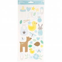 "Pebbles Lullaby Baby Boy 6""x12"" Accent Stickers - 2 sheets 733511"