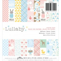 """Pebbles Lullaby Baby 6""""x6"""" Paper Pad 733522"""