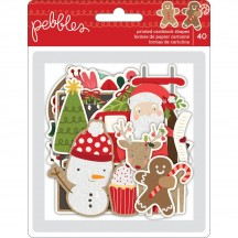 Pebbles Merry Merry Ephemera Die-Cut Christmas Cardstock Shapes 733560