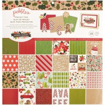 "Pebbles Merry Merry 12""x12"" Christmas Paper Pad 733567"