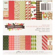 "Pebbles Merry Merry 6""x6"" Christmas Paper Pad 733586"