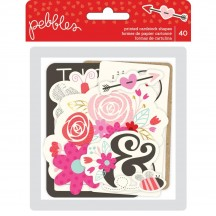Pebbles Forever My Always Ephemera Die-Cut Cardstock Valentine Shapes 733632