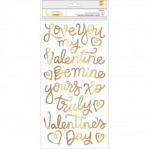 Pebbles Forever My Always Gold Foil Valentine Phrase Thickers 733634