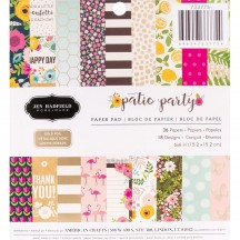 "Pebbles Jen Hadfield Patio Party 6""x6"" Paper Pad 733775"