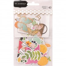 Pebbles Jen Hadfield Patio Party Ephemera Die-Cut Cardstock Shapes 733782