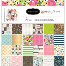 "Pebbles Jen Hadfield My Bright Life 12""x12"" Paper Pad 733893"