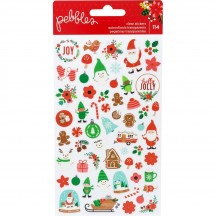 Pebbles Cozy & Bright Clear Christmas Stickers 733930