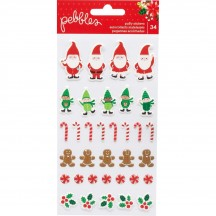 Pebbles Cozy & Bright Icon Puffy Christmas Stickers 733935