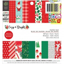 "Pebbles Cozy & Bright 6""x6"" Christmas Paper Pad 733941"