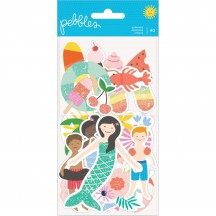Pebbles Oh Summertime Icon Ephemera Die-Cut Cardstock Shapes 734093