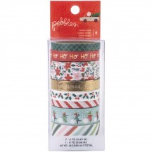 Pebbles Merry Little Christmas Washi Tape Rolls 734151