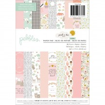 "Pebbles Peek-A-Boo You Baby Girl 6""x8"" Paper Pad 736766"