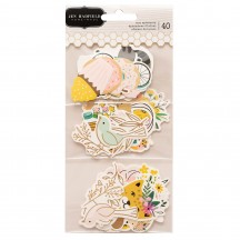 Pebbles Jen Hadfield Hey Hello Icon Ephemera Die-Cut Cardstock Shapes 736800