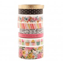 Pebbles Jen Hadfield Hey Hello Washi Tape Rolls 736803