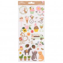 "Pebbles Lovely Moments 6""x12"" Accent Stickers 736822"