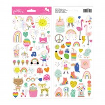 "Pebbles Live Life Happy 6""x12"" Accent Stickers 736920"
