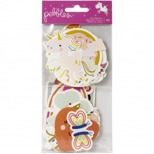 Pebbles Live Life Happy Ephemera Die-Cut Cardstock Shapes 736923