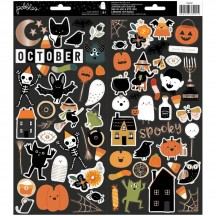 "Pebbles Spoooky Halloween 6""x12"" Icon Cardstock Stickers 736991"