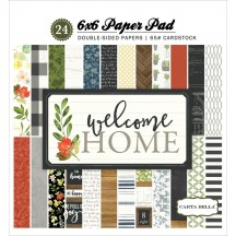 "Carta Bella Welcome Home 6""x6"" Double-Sided Paper Pad CBWHO74015"