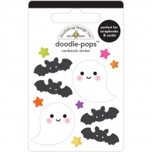 Doodlebug Happy Haunting Spook-tacular Doodle-Pops Dimensional Stickers 7417