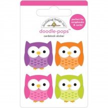 Doodlebug Happy Haunting Happy Owl-o-ween Doodle-Pops Dimensional Stickers 7418
