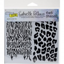 """The Crafters Workshop Gabrielle Pollacco Wild Prints 6""""x6"""" Template TCW748s"""