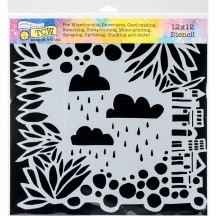 "The Crafters Workshop Desert Mirage Stencil 12""x12"" Template - TCW753"