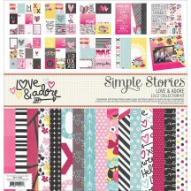 "Simple Stories Love & Adore 12""x12"" Collection Kit 7600"