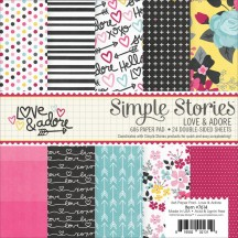 "Simple Stories Love & Adore 6""x6"" Double-Sided Paper Pad 7614"
