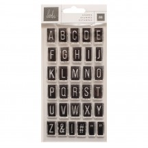 Heidi Swapp Carefree Alphabet Clear Stamp Set 315678