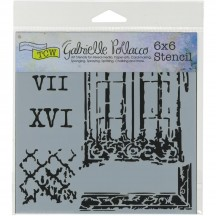 "The Crafters Workshop Gabrielle Pollacco Architexture 6""x6"" Template TCW787s"