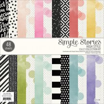"Simple Stories High Style 12""x12"" Paper Pad 7898"