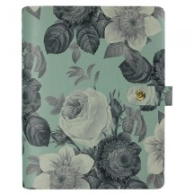 Simple Stories Carpe Diem Personal Faux Leather Undated Boxed Planner Kit Mint Vintage Floral 7946