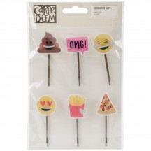Simple Stories Emoji Love Decorative Clips 8021