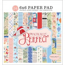 "Carta Bella Practically Perfect 6""x6"" Double-Sided Paper Pad CBPP81023"