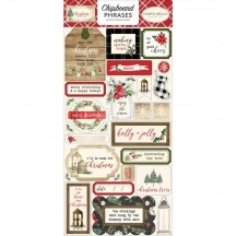 Carta Bella Christmas Self Adhesive Chipboard Phrases Stickers CH89022