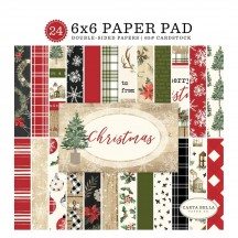 "Carta Bella Christmas 6""x6"" Double-Sided Paper Pad CBCH89023"