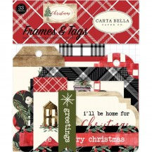 Carta Bella Christmas Frames & Tags Ephemera Die Cut Cardstock Pieces CH89025