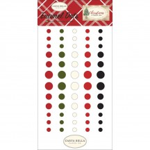 Carta Bella Christmas Enamel Dots - red, green, white, black, CH89028