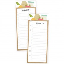 Simple Stories Carpe Diem Shopping List Bookmark Paper Tablet 8913
