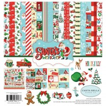 "Carta Bella Santa's Workshop 12""x12"" Christmas Collection Kit SW90016"
