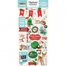 Carta Bella Santa's Workshop Self Adhesive Chipboard Phrases Christmas Stickers SW90022