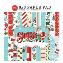 "Carta Bella Santa's Workshop 6""x6"" Double-Sided Christmas Paper Pad SW90023"