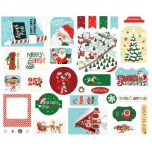 Carta Bella Santa's Workshop Icons Ephemera Die Cut Cardstock Christmas Pieces SW90024